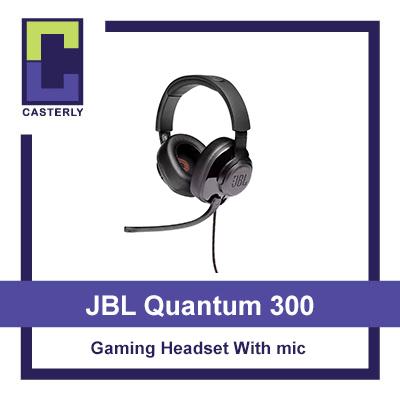 [해외] [Brand New] JBL Quantum 300: Hybrid wired over-ear gaming headset with flip-up mic