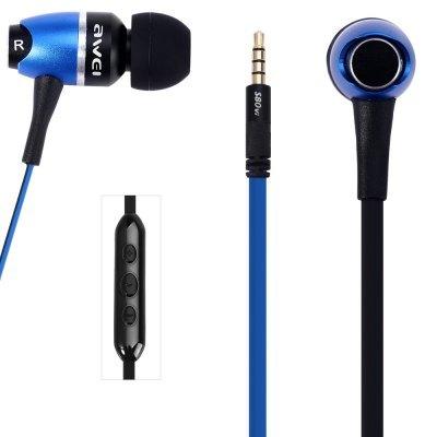 [해외] Awei S80vi 1.25m Cable Metal Rock In - ear Earphone with Mic Volume Control