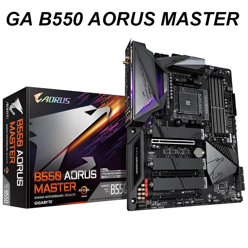 [해외] NEW For Gigabyte B550 AORUS MASTER Motherboard Socket AM4 DDR4 128GB PCI-E 4.0 HDMI M.2 ATX Desktop