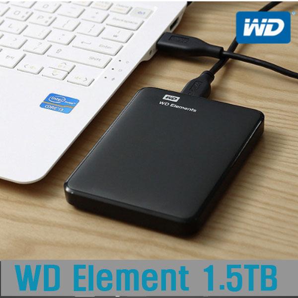 [WD]  WD Elements 1.5TB hard disk / hard disk enclosure / HDD/ Hard Disk portable USB3.0 / Korea